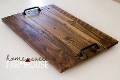 Rustic Wood Serving Tray Decorative Tray Farmhouse Style Tray Distressed Wood - Decorative Tray - Ideas of Decorative Tray - Rustic Wood Serving Tray Decorative Tray Farmhouse Style Tray Distressed Wood Rustic Wood, Distressed Wood, Diy Wood, Rustic Serving Trays, Wood Trellis, Wood Mantle, Bois Diy, Country Farmhouse Decor, Farmhouse Style