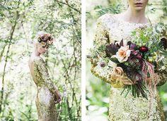 Floral headdress by Jardine Hansen in HOORAY! magazine