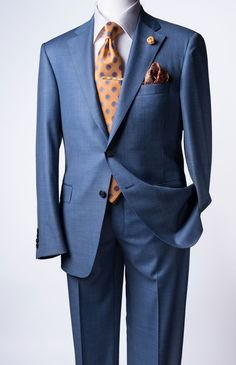 Samuelsohn Light Blue Suit