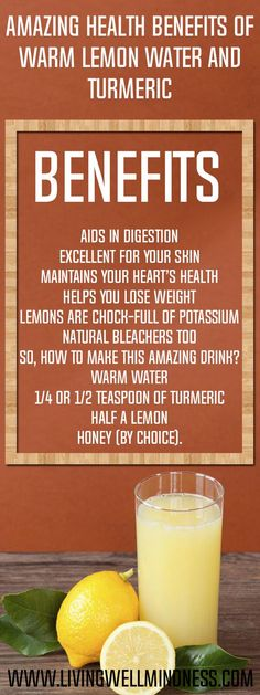 Ever thought of combining lemon water with turmeric? Well, you should start thinking about it now, since it can offer so many benefits, especially if it is warm lemon water.