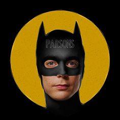 Parsons as Batman.
