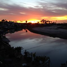 Gorgeous Newport Shores sunset.