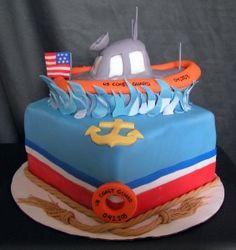 U.S. Coast Guard Cake