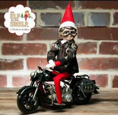 biker elf on the shelf xmas cards christmas ideas christmas elf holiday fun