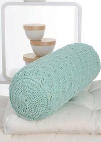 Ideas Cojines a Crochet y Tricot II : Free crochet pattern: Bolster cushion – Neck Pillow Crochet Afghans, Crochet Motifs, Crochet Cushions, Crochet Pillow, Crochet Patterns, Mode Crochet, Crochet Gratis, Crochet Diy, Crochet Home