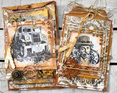 Steampunk Paperbag Card - Pia Baunsgaard - Stempelglede :: Design Team Blog