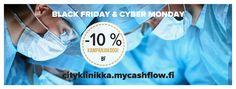 Black Friday Cityklinikka perjantaista maanantai-iltaan saakka. Kampanjakoodilla BF saat 10 % alea!