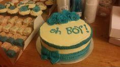 Baby boy shower cake