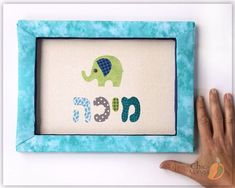 Elephant Room Decor, Hebrew Name Sign, Jewish Name Wall Art, Animal Decor for Kids, Personalized Kids Wall Art Jewish Gift for Baby Boy Mika
