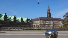 Christiansborg - the Danish Parliament - has got a new roof of cupper - so it's all brown - for a while.... Tags: #Batavus, #Diva, #Bicycle, #Bike, #Copenhagen #Christiansborg, #Danish Parliament