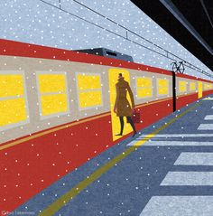 祥伝社の小説誌『小説NON』2014年12月号の表紙イラストレーションを担当しました。 Cover illustration for NON magazine, December 2014 issue.