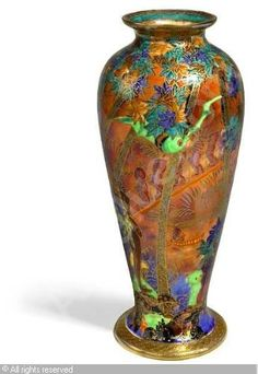 WEDGWOOD - Fairyland Lustre Imps on a Bridge vase