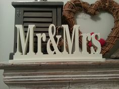 10cm Handpainted Freestanding Wedding Letters  Mr by LoveLettersMe, £20.00