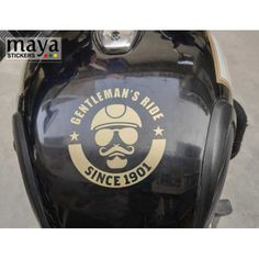Gentleman's ride sticker for Royal Enfield in custom colors and sizes Royal Enfield Stickers, Enfield Bike, Enfield Classic, Custom Stickers, Gentleman, Colors, Design, Personalized Stickers, Gentleman Style