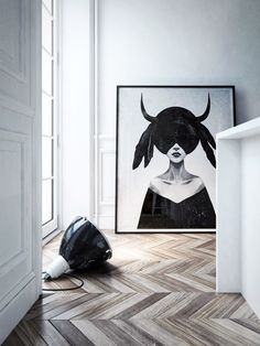 = chevron floor and art = In2architects