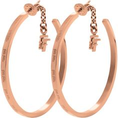 Folli Follie Match & Dazzle Medium Hoop Earrings, Rose Gold ($52) ❤ liked on Polyvore featuring jewelry, earrings, pink gold jewelry, folli follie jewelry, folli follie, hoop earrings and rose gold earrings