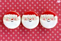 Santa sugar cookies.