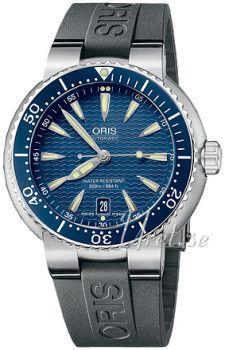 Oris  Diving Date Steel Blue Dial  733 7533 8555 RS