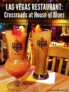 Las Vegas Restaurant: Crossroads at House of Blues at Mandalay Bay -- excellent service and great food. On vacation in Vegas? Get a cocktail in a souvenir glass! @restaurantcom
