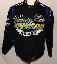 Jimmy Johnson Racing Jacket Lowes NASCAR LE 5 Time Champion Coat Snap Button #JHDesign #JacketCoat