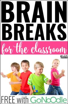 Brain breaks for the elementary classroom - This post teaches all about where to find the best brain break videos. Best of all, they're all FREE with GoNoodle! brain breaks in the classroom Brain Breaks For Kindergarten, Teaching Kindergarten, Teaching Tips, Preschool Learning, Preschool Ideas, Brain Break Videos, Classroom Activities, Classroom Ideas, Music Classroom