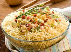 Salpicão da Fazenda perfeito pro jantar de fim de ano! #brasil #natal #receitas #ceia #dezembro #comida #jantar #christmas #recipe #dinner #december #food #salad #salada #healthy #saudavel #chicken #frango #salpicao