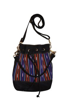 Leather bucket bag Hobo tote bag Faux leather crossbody by IKALA