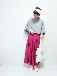 furryrateのシャーリングフリルウエスト2WAYスカートを着用させて頂いてます😊💓 最近、