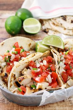 Citrus marinated Grilled Chicken Fresco Tacos