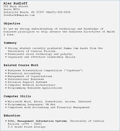 How To Write A Resume With No Work Experience 8 Best Resumes Images On Pinterest  Cv Design Cv Format And Cv .