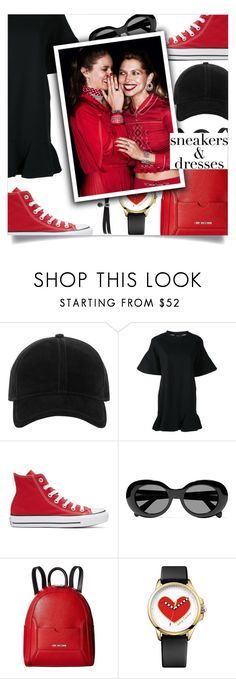"""""""Sporty Chic: Sneakers and Dresses"""" by loloksage ❤ liked on Polyvore featuring rag & bone, Goen.J, Converse, Acne Studios, Love Moschino, Juicy Couture and Fallon"""