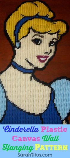 Disney Princess Cinderella Plastic Canvas Pattern: Wall Hanging - Sarah Titus