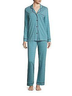 Cosabella Striped Pajama Set - Picasso Marine Blue
