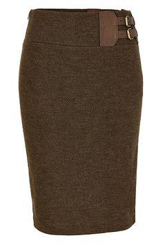 Ralph Lauren - Fraser Wool Tweed Jackson Pencil Skirt - Equestrian-inspired