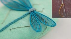 stumpwork dragonfly wings