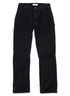 Carhartt Washed Canard Avant Double travail Pantalon noir 31R, 32R, 33R, 34R, 36R, 38R