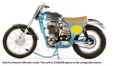 2: THE MOST IMPORTANT MOTOCROSS BIKES OF THE EARLY ERA: They built a total of five GP Monark works bikes from 1957 to 1960. Sten Lundin's 1960 Monark GP bike was built during the winter of 1959. The entire bike was made by hand by a handful of Monark engineers at the Monark factory in Varberg, Sweden. The facility was state of the art, and Monark had the resources to build the finest bike that anyone could conceive.