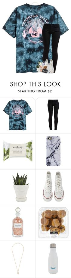 """tell me how does that sound"" by theblonde07 ❤ liked on Polyvore featuring 7 For All Mankind, Forever 21, Chive, Converse, Mullein & Sparrow, Gucci, S'well and Charlotte Tilbury"