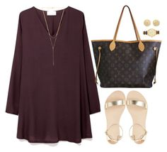""":)"" by mallorytripp99 ❤ liked on Polyvore featuring American Vintage, Carolina Bucci, Louis Vuitton, Kate Spade and Gorjana"