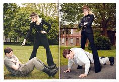 Dornan in Vogue Paris, 2010; photographs by Terry Richardson [via Models.com]. This is ~*LiTEraLLy*~ Christian Grey being Mrs. Robinson's submissive.  -Cosmopolitan.com