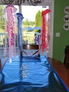shark party theme -  Maybe make jellie fish lights for the party.  Will it be in the evening?