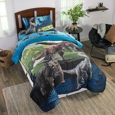 Jurassic World Blue Dinosaur Boys Twin Comforter & Sheet Set Piece Bed Set) 47273947519 Kids Bedding Sets, Luxury Bedding Sets, Modern Bedding, Dinosaur Bedroom, Big Bedrooms, Twin Comforter, Crib Bedding, Kid Beds, Pallet Furniture