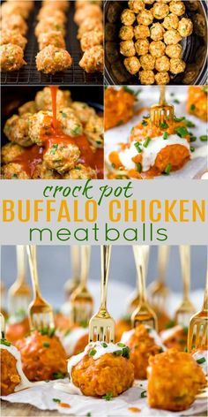 The Ultimate Crockpot Buffalo Chicken Meatballs tender meatballs made with ground chicken celery carrots and green onion then covered in a spicy buffalo sauce The lighter healthier version of your favorite buffalo wings Best Crockpot Meatballs, Crock Pot Meatballs, Buffalo Chicken Meatballs, Chicken Meatball Recipes, Keto Chicken, Chicken Appetizers, Recipes With Buffalo Sauce, Healthy Recipes, Cocktails