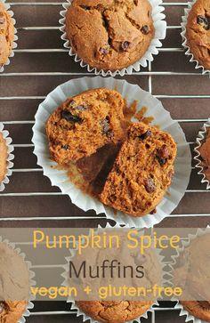Vegan Gluten-Free Pumpkin Spice Muffins Recipe