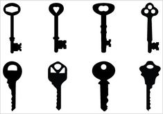 Keys Silhouette Clip Art Pack. This silhouette is perfect  Clip Art  graphics. You can purchase and use this clip art for personal and commercial use.  When you purchase this clip art, you will get a zip file which contains 1 jpeg file, 1 png file and 1 Illustrator(. ...