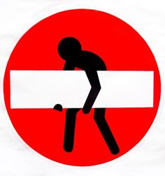 """""""My contribution is to stimulate debate"""". Clet Abraham, self-taught artist, cleverly alters road signs with removable stickers to reflect on the current civil society constraints... http://www.yeseya.it/blog/visioni/160/visione-72.html"""
