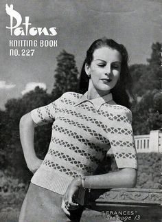 1940s Vintage Knitting Patterns for Women  by BessieAndMaive, $8.50