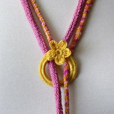 Crochet Necklace Lariat Etsy.