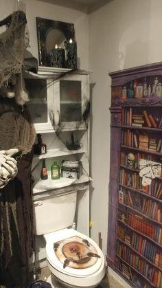 Halloween Bathroom, Bookcase, Shelves, Home Decor, Shelving, Decoration Home, Room Decor, Book Shelves, Shelving Units