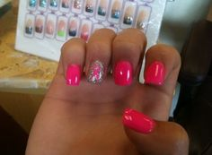 Breast cancer awareness nails! #breastcancer#awareness#month#october